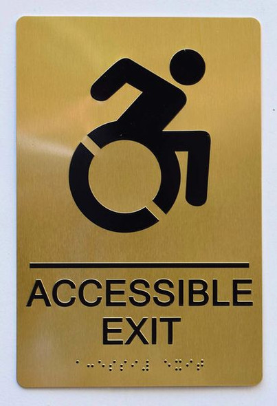 ACCESSIBLE EXIT Sign -Tactile Signs-The sensation line Ada sign