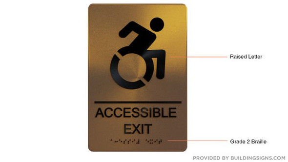 ACCESSIBLE EXIT Sign -Tactile Signs-The sensation line  Braille sign