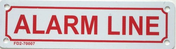ALARM LINE SIGN White