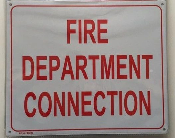 FIRE DEPARTMENT SIGN WHITE