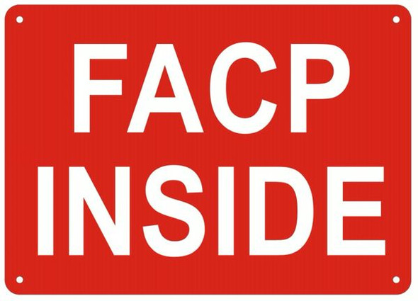 FACP INSIDE SIGN