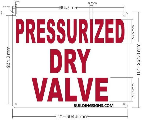PRESSURIZED DRY VALVE HPD SIGN