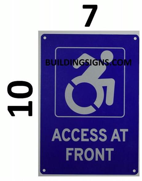 ACCESS AT FRONT Dob SIGN