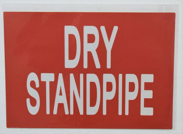DRY STANDPIPE Signage (STICKER )