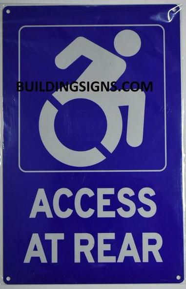 ACCESS AT REAR HPD SIGN