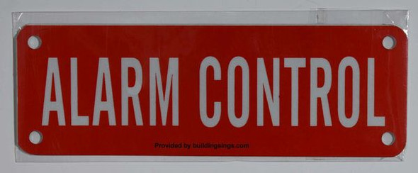 ALARM CONTROL SIGN Red