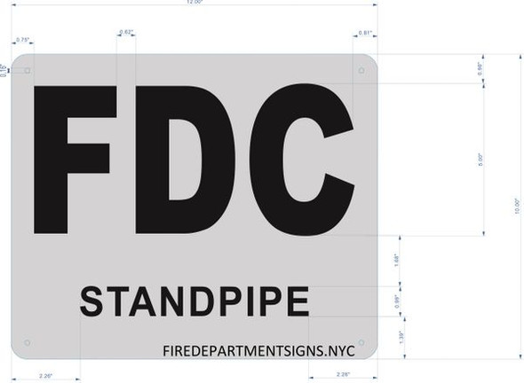 FDC STANDPIPE SIGN for Building