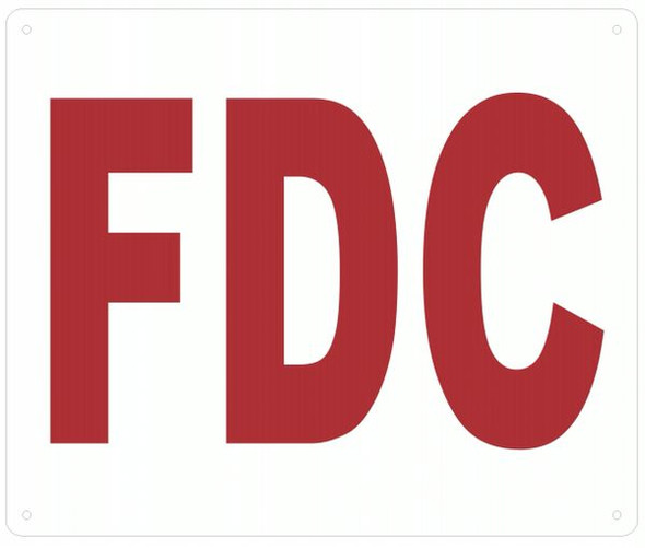 WHITE FDC SIGN
