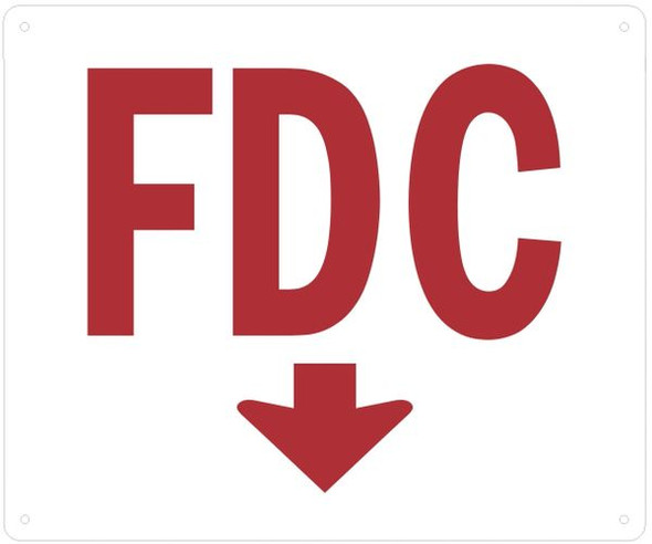 WHITE FDC DOWN SIGN