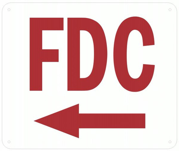 FDC LEFT SIGN
