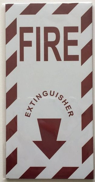 FIRE EXTINGUISHER ARROW SIGN for Building