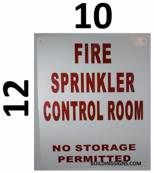 FIRE SPRINKLER CONTROL ROOM NO STORAGE PERMITTED Dob Sign