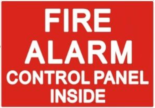 FIRE ALARM CONTROL PANEL INSIDE Sign (Sticker)
