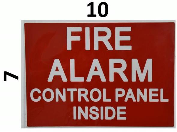 FIRE ALARM CONTROL PANEL INSIDE Signage (Sticker)