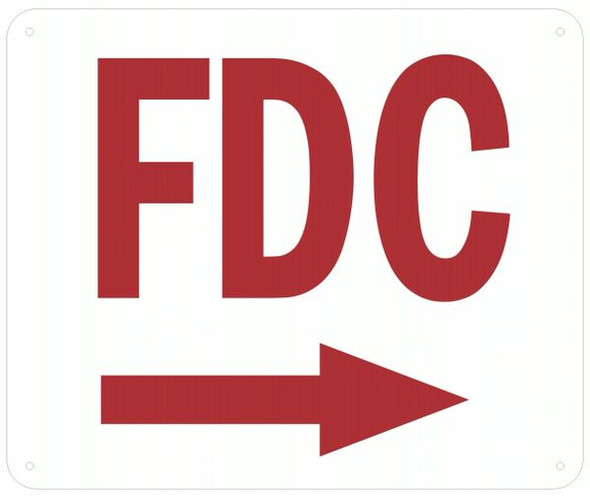 WHITE FDC RIGHT SIGN
