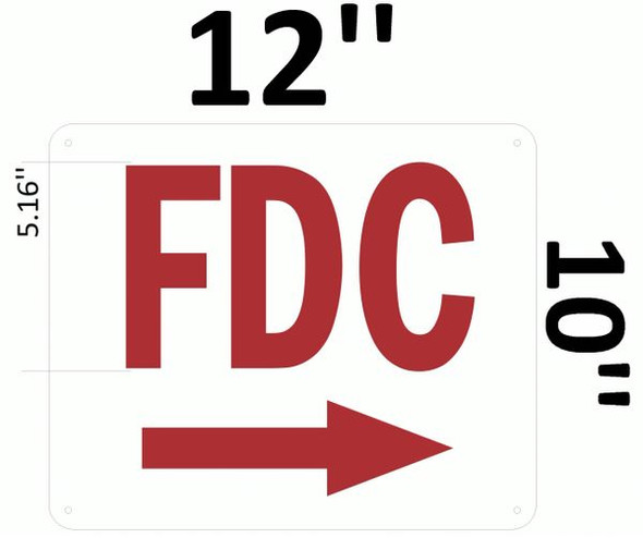 FDC RIGHT SIGN for Building