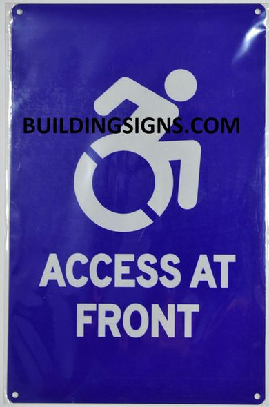 ACCESS AT FRONT Signage- The Pour Tous Blue LINE
