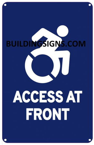 ACCESS AT FRONT SIGN- The Pour Tous Blue LINE