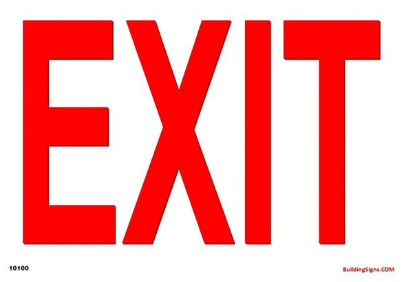 EXIT SIGN White