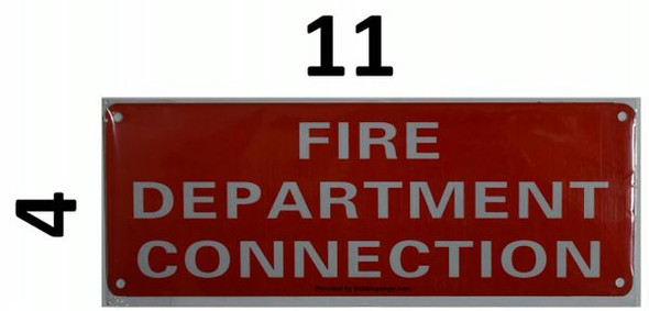 FIRE DEPARTMENT CONNECTION HPD SIGN