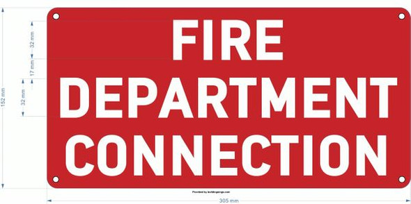 FIRE DEPARTMENT CONNECTION SIGN for Building