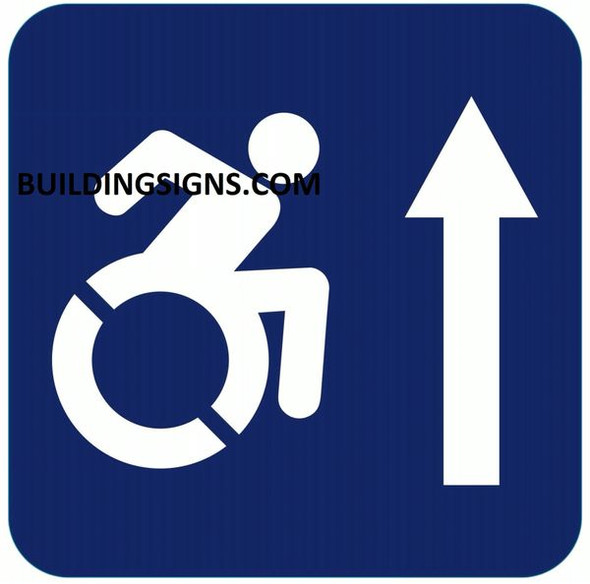 ACCESSIBLE AT THE FRONT SIGN- The Pour Tous Blue LINE