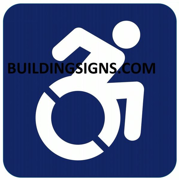 ACCESSIBLE SYMBOL SIGN- The Pour Tous Blue LINE