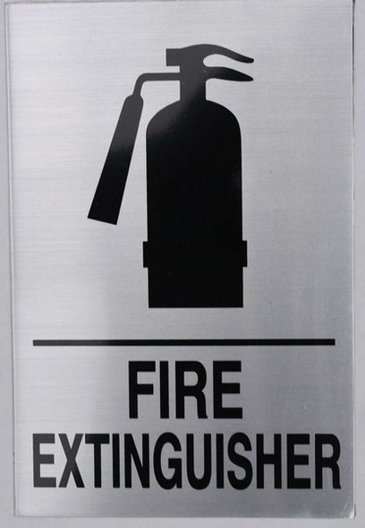 FIRE EXTINGUISHER Sign (ALUMINUM SignSILVER)