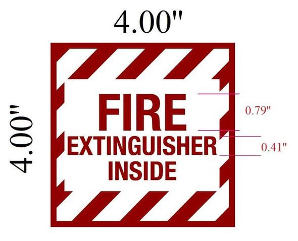 FIRE EXTINGUISHER INSIDE SIGN for Building