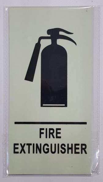 FIRE EXTINGUISHER Sign - PHOTOLUMINESCENT GLOW IN THE DARK Sign