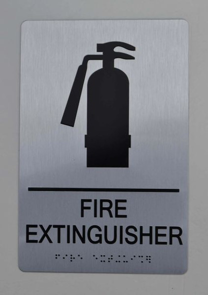 FIRE EXTINGUISHER ADA-Sign -Tactile Signs The sensation line  Ada sign