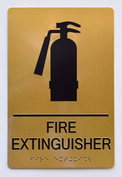 FIRE EXTINGUISHER Sign -Tactile Signs Tactile Signs ADA-- THE SENSATION LINE Ada sign
