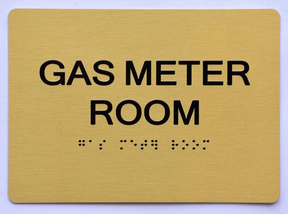 GAS METER ROOM Sign -Tactile Signs Tactile Signs- THE SENSATION LINE Ada sign