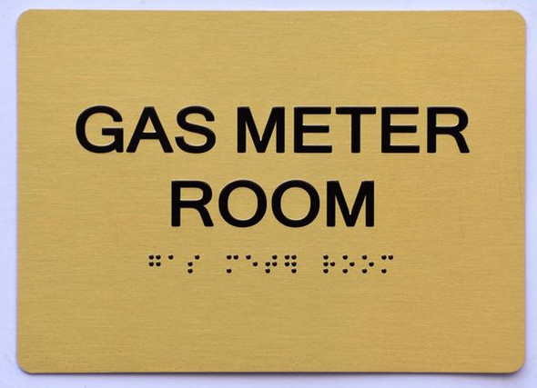 GAS METER ROOM Sign -Tactile Signs Tactile Signs- THE SENSATION LINE  Braille sign