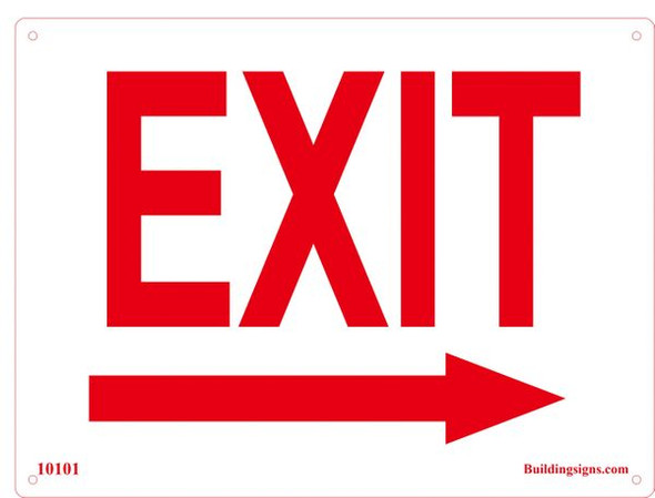 EXIT RIGHT SIGN