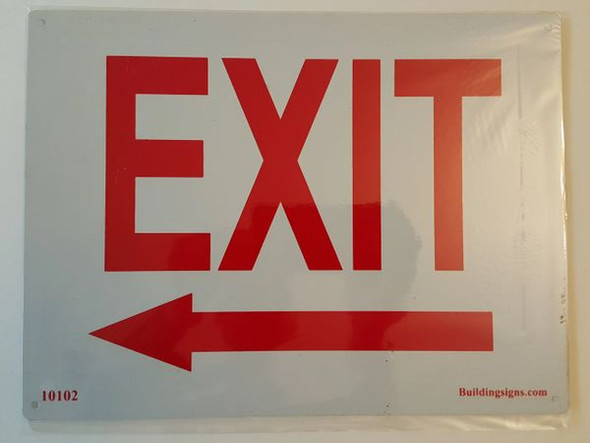 Exit Left Signage