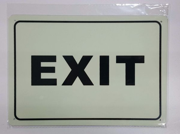 EXIT Sign - PHOTOLUMINESCENT GLOW IN THE DARK Sign