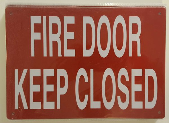 FIRE DOOR KEEP CLOSED SIGN Red