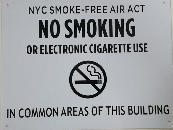 NYC SMOKE FREE ACT SIGN