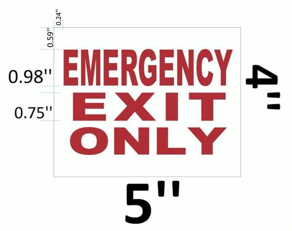 EMERGENCY EXIT ONLY SIGNAGE (ALUMINUM SIGNAGES) WHITE