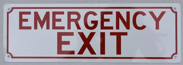 EMERGENCY EXIT Signage