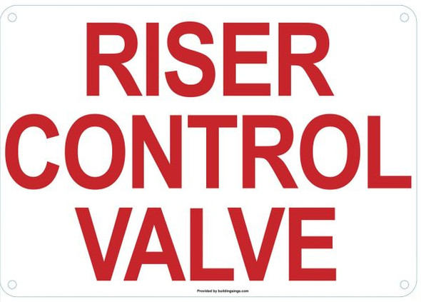RISER CONTROL VALVE HPD SIGN
