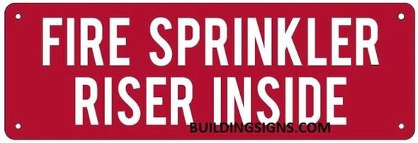 FIRE SPRINKLER RISER INSIDE SIGN