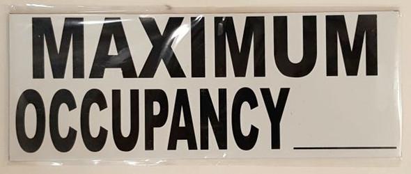 MAXIMUM OCCUPANCY HPD SIGN