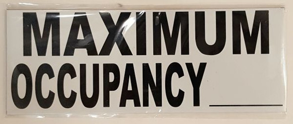 MAXIMUM OCCUPANCY Signage PURE