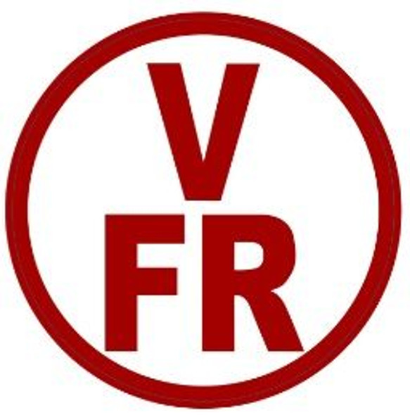 FLOOR AND ROOF TRUSS IDENTIFICATION SIGN-TYPE V (STICKER, CIRCLE ) WHITE