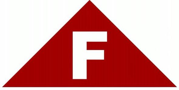 FLOOR TRUSS IDENTIFICATION Sign (STICKER  TRIANGLE)