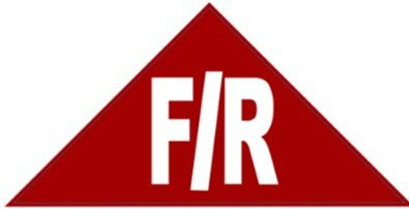 FLOOR AND ROOF TRUSS IDENTIFICATION SIGN (STICKER , RED)