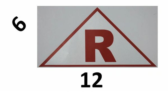 ROOF TRUSS IDENTIFICATION SIGNAGE (STICKER ) WHITE