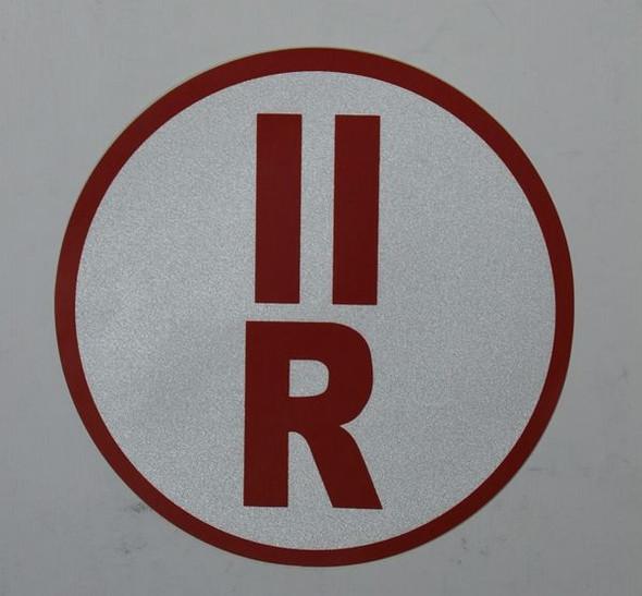 ROOF TRUSS IDENTIFICATION SIGNAGE-TYPE II (STICKER, CIRCLE ) WHITE